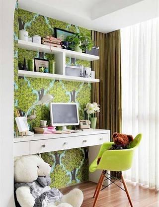 阳台改造书房装修装饰效果图