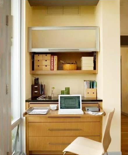 阳台改造书房设计实景图