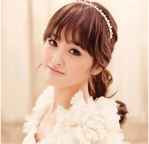 刘海新娘发型图片欣赏 如何打造齐刘海发型