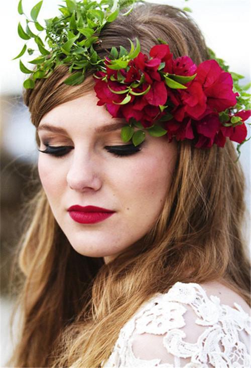 森系婚礼新娘造型有哪几种风格 2017流行新娘发型推荐图片