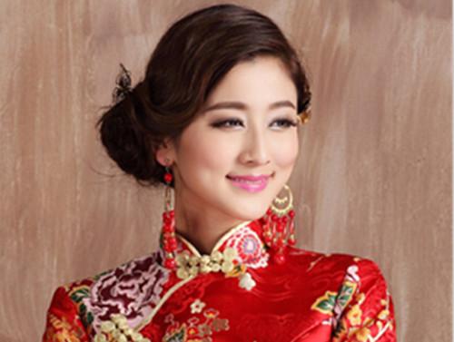 旗袍新娘发型图片大全