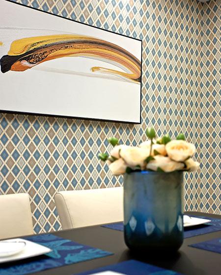 120平现代风格装修餐厅背景墙装饰画