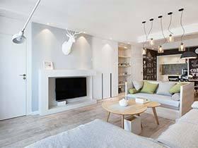 80㎡北欧风单身公寓图片  一个人的狂欢