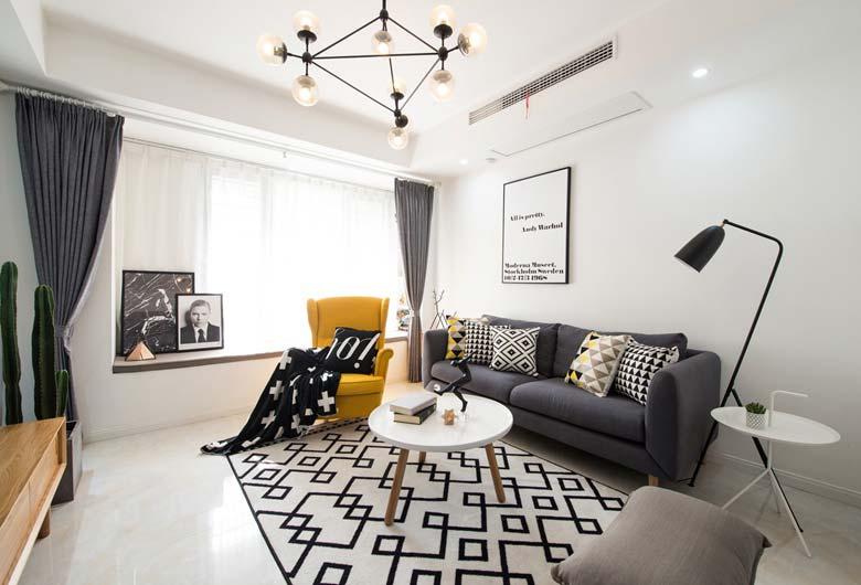 89㎡单身公寓整体效果图