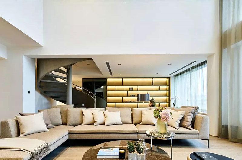 简约风格复式楼装修客厅效果图