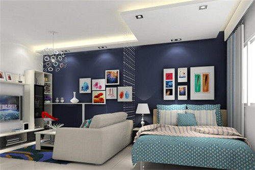 卧室装修设计色调的明度与空间关系