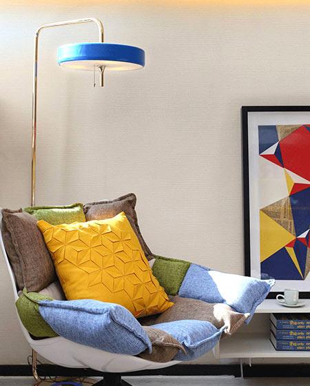 小户型复式装修单人沙发图片