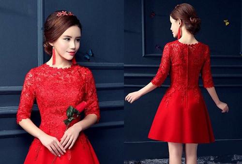 新娘红色礼服发型欣赏 红色礼服搭什么发型好看