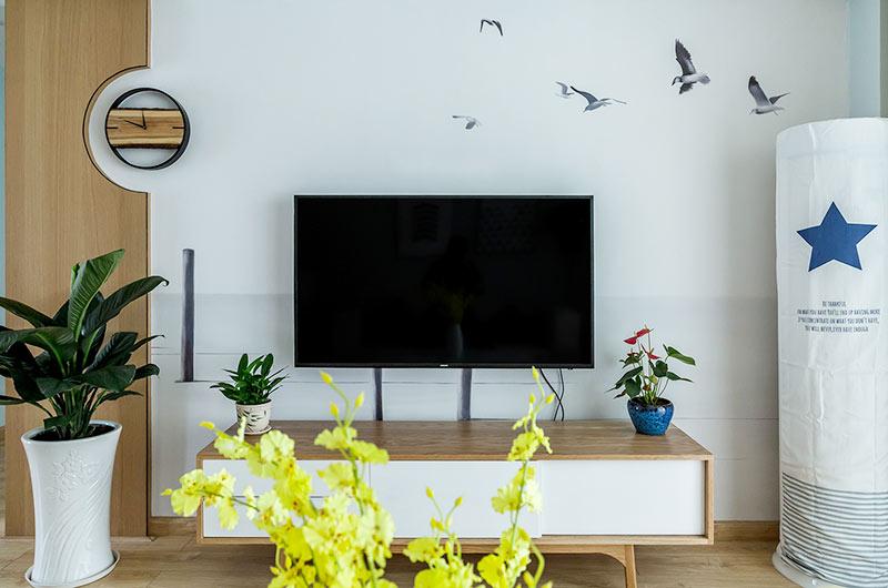 107平北欧风格三居电视柜图片