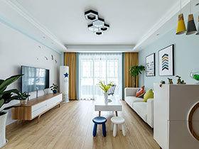 107平北欧风格三居室装修 盛开的木棉花