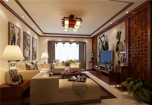 北京中式风格室内装修效果图 北京装修美宅客