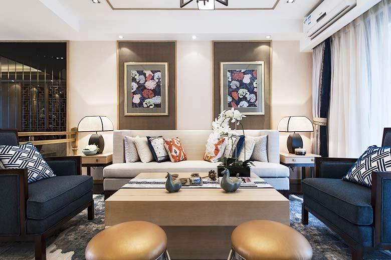 新中式客厅布置欣赏图