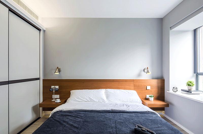 99平北欧风格二居卧室床头设计