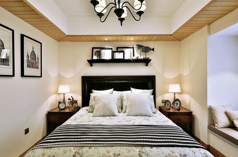 130平法式风格四居卧室吊顶装修
