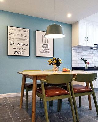 130平北欧风格婚房装修餐厅吊灯图