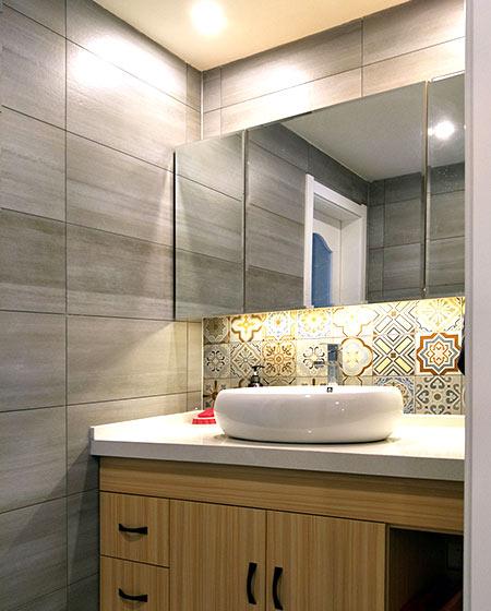 130平北欧风格婚房装修洗手台