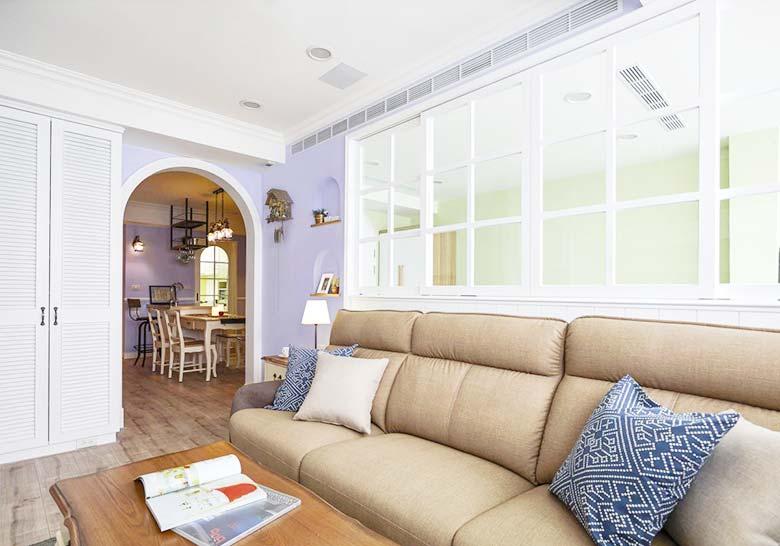 美式风格一居室装修装饰效果图