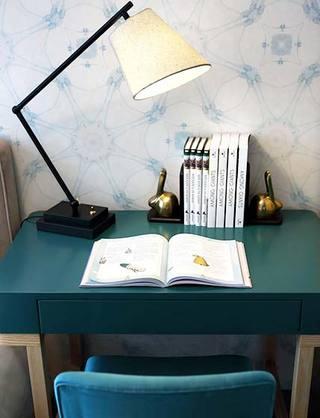 新中式两居室书桌图片大全