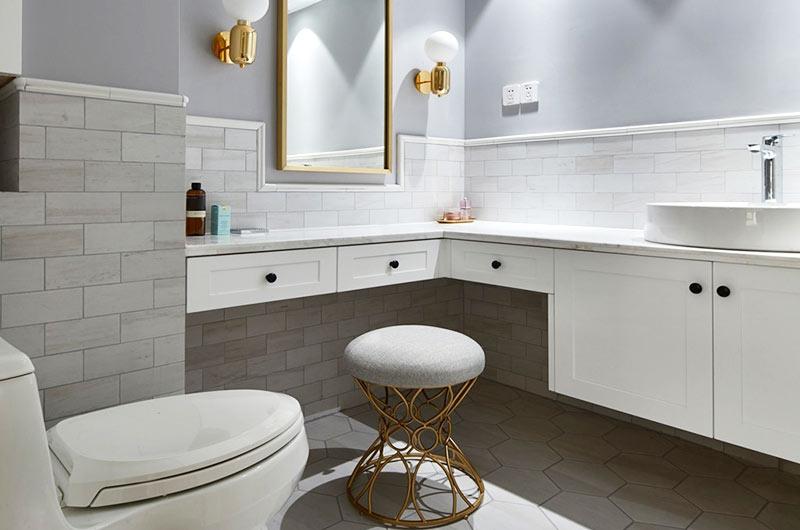 165平混搭风格公寓主卫生间设计