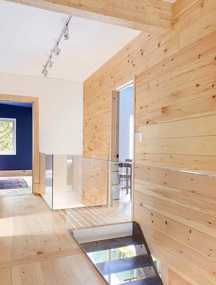 木质混搭复式公寓图