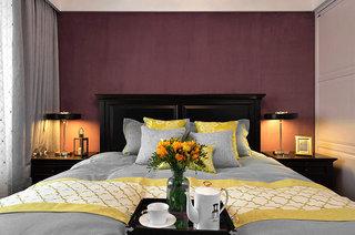 130平欧式风格公寓主卧室设计图