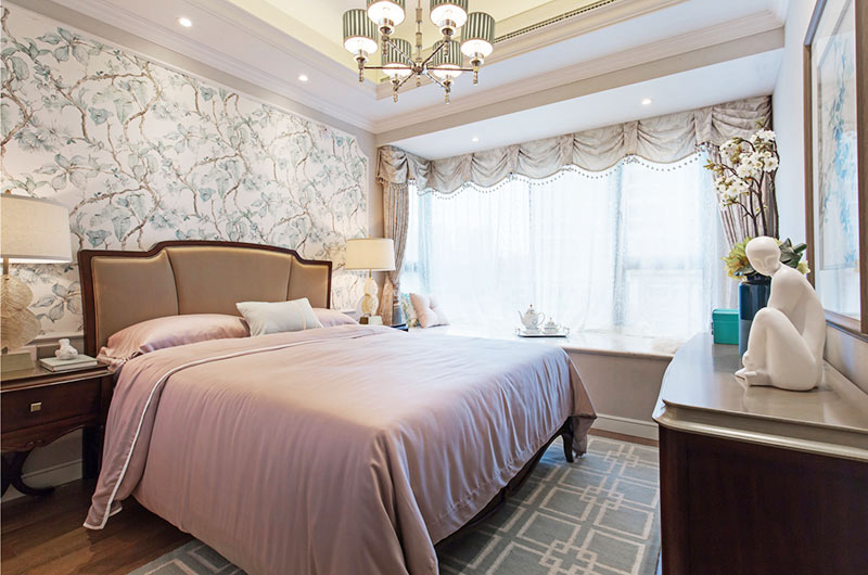 80平美式风格二居主卧室装修