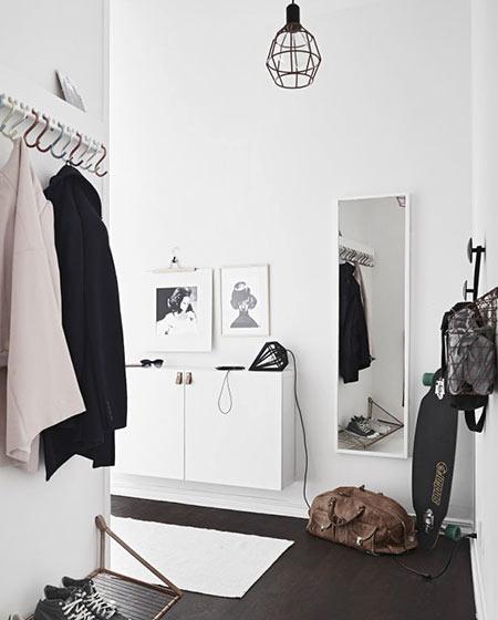 白色玄关鞋柜效果图设计