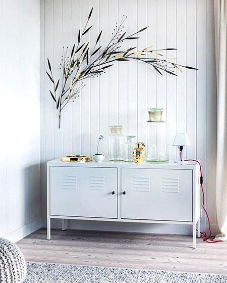 北欧风格白色玄关柜图片