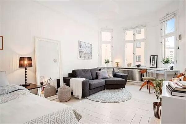 北欧风格单身公寓装修装潢