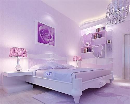 淡紫色卧室装修效果图 淡紫色卧室圆您浪漫的少女梦