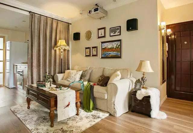 90㎡美式乡村两居室客厅图片
