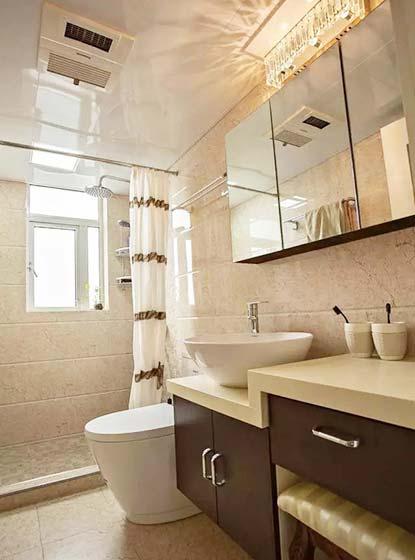90㎡两居室卫生间构造图