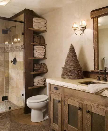 复古风卫生间装修欣赏图