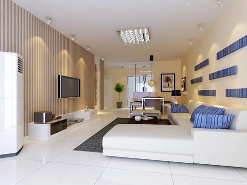 60平米两室一厅装修效果图之客厅