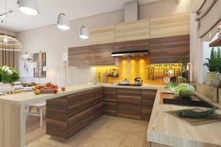 现代风厨房厨房柜装修图