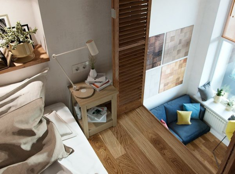 40平时尚loft风格装修卧室设计