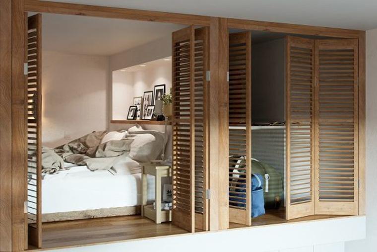 40平时尚loft风格装修卧室隔断