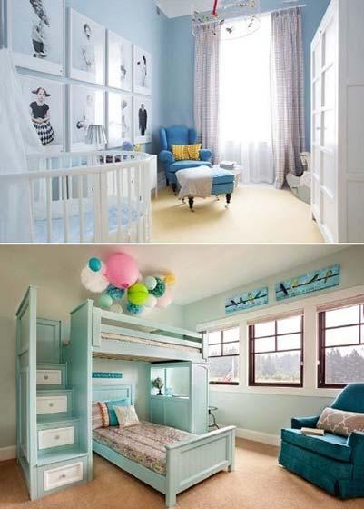 色彩儿童房设计实景图