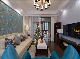 100平美式风格三居室 体会典雅