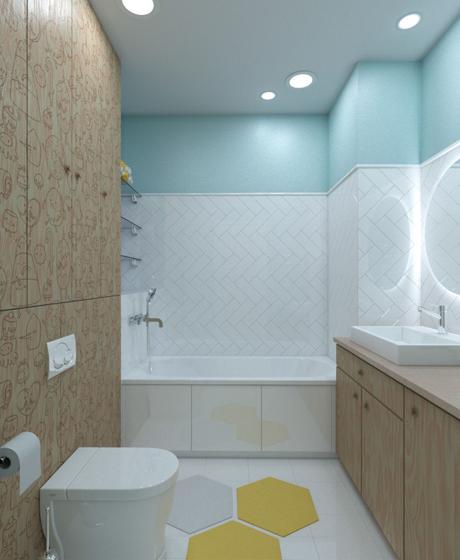 80平时尚个性两居室装修图卫生间装修图