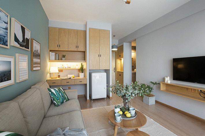 60平小户型装修效果图小户型客厅沙发图片