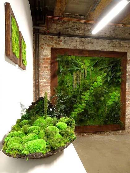 植物背景墙装修平面图