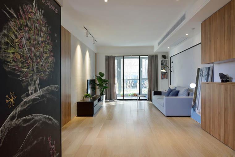 100平北欧风格两居室装修效果图过道设计