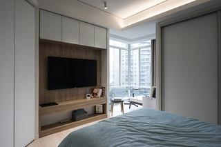 140平简约风格三居室装修主卧效果图