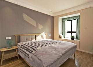 110平北欧风格两居室装修主卧效果图