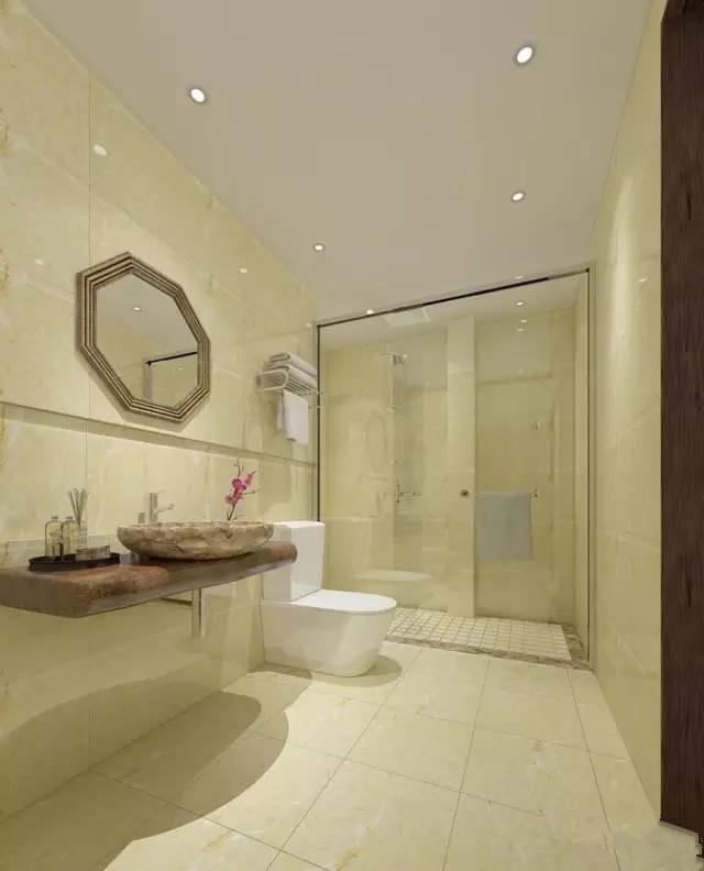 窄长型卫生间装修效果图案例