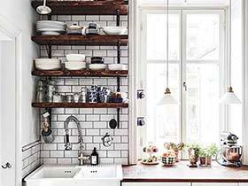 瘦身的诀窍  10款厨房搁板收纳图片