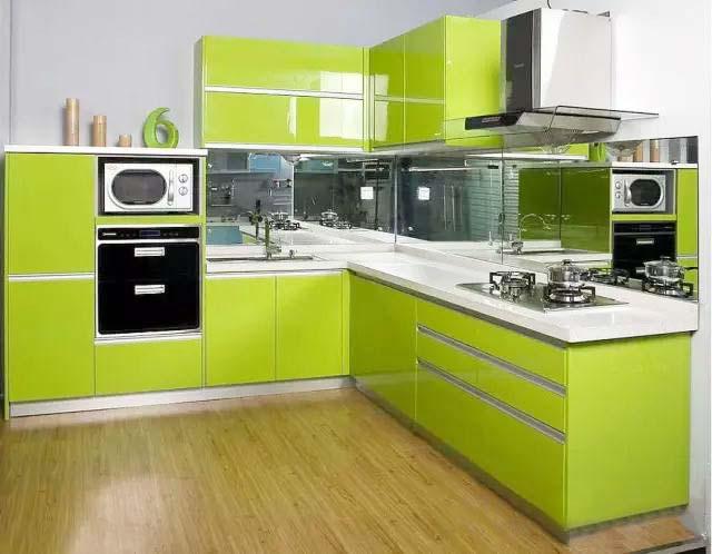 绿色系厨房图片大全