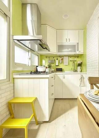 绿色系厨房装修装饰效果图