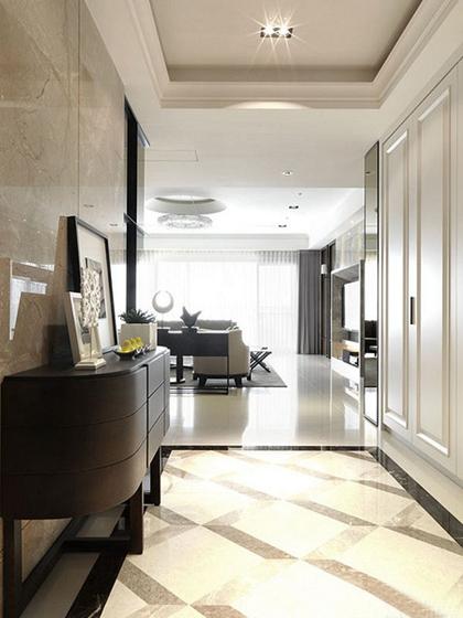 120平中式风格三居室装修玄关设计图
